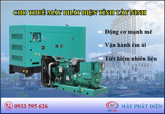 Cho thuê máy phát điện Tây Ninh